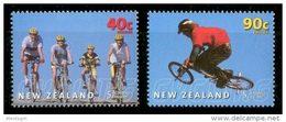 NEW ZEALAND 2001 - Cycling - Mi 1933-4, Sc B166-7 - Mountain Bike