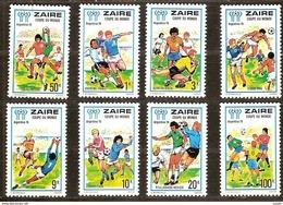 Zaire 1978 Yvertn° 928-935 *** MNH  Cote 5,00 Euro Sport Football - Zaïre