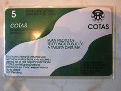 RARE  BOLIVIA  COTAS  TR1   FLAG  SANTA CRUZ   SPECIAL  CARD FIELD  TRIAL TEST - Bolivie