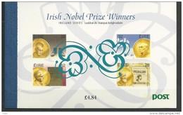1994 MNH Booklet, Nobel Prize Winners, Eire, Ireland, Irland, Postfris - Libretti