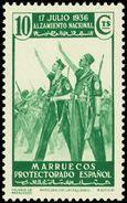 Marruecos 172 (*) Alzamiento. 1937 Sin Goma - Spanisch-Marokko