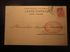 1917 FINLAND/RUSSIA CENSORED POSTAL STATIONERY - Covers & Documents