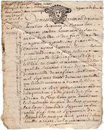 VP11.428 ALENCON - Acte De 1730 - BONNEBOSC - Aveu De F. CAUVIN Pour 8 Pièces De Terre Situées à SAINT AUBIN DE SELLOU - Cachets Généralité