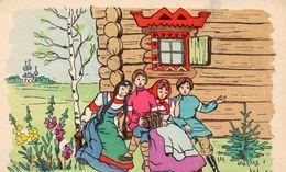 711Ai    Russie Illustrateur Chanson Musique Devant Maison Cosaque - Poland