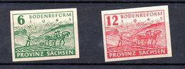 PROVINZ SACHSEN.  AÑO 1946.  Mi 85/86 (MNH) - Zona Soviética