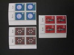 BRD Nr. 440 - 442 Viererblöcke Eckrand Postfrisch** (C47) - BRD