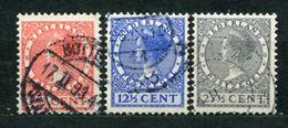 Niederlande Nr.215/7        O  Used       (806) - Periodo 1891 – 1948 (Wilhelmina)