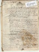 VP11.429 - ALENCON - Acte De 1732 - Entre Mrs Marin GORGE Chapellier à MONTREUIL & Jean LAURENT De FRIARDEL - Cachets Généralité