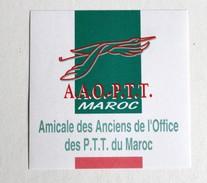 Autocollant AAO PTT Amicale Des Anciens De L'office Des PTT Du Maroc Poste - Aufkleber