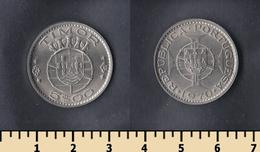 Portuguese Timor 5 Escudos 1970 - Timor