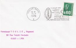 LETTRE FRANCE. 11.7.67.  TOULON NAVAL. REVUE NAVALE PAR LE PRESIDENT DE LA REPUBLIQUE - 1961-....