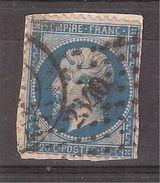 Empire Dentelé N° 22 Obl Pc 2340 De ORLEANS Ou Pc Du GC De MEUNG Sur Loire, Loiret + Cachet , Sur Fragment - 1862 Napoleon III