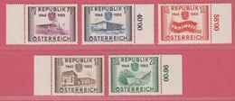 1955 ** (sans Charn., MNH, Postfrish)  Yv  845/9Mi  1012/6ANK 1021/5 - 1945-60 Neufs