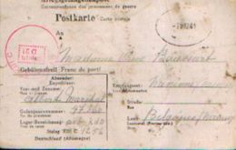 ALLEMAGNE Kriegsgefangenenpost Carte Postale Ayant Circulé Du Stalag XIII C Vers NAMUR (07/03/1941) - WW II