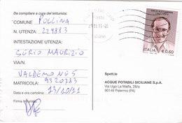 COMMEMORATIVO -  Card_ Cartolina Postale  / Cent. 0,60 Isolato - 2011-...: Poststempel