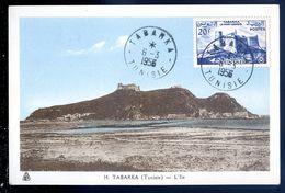 Cpa De Tunisie Tabarka L' Île  Carte Maximum    SEP17-53 - 1950-59