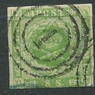 Danemark / Yvert N° 5 Oblitéré ( 1 Dans Cercle )  - Ad 32304 - Oblitérés