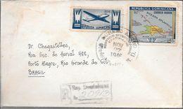 CIUDAD TRUJILLO REPUBLICA DOMINICANA SOBRE CIRCULADO AÑO 1946 A DR. CHAGASTELLES PORTO ALEGRE RIO GRANDE DO SUL BRASIL - Dominicaanse Republiek