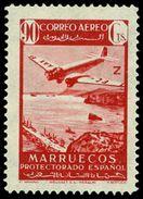 Marruecos 244 (*) Paisajes Y Avión. 1942 Sin Goma - Maroc Espagnol