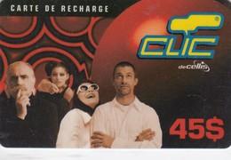 Lebanon, LB-CLC-REF-0015, 45$, Clic Recharge Card, Family, 2 Scans. - Lebanon