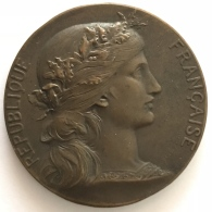 Médaille Bronze. Militaira. République Française. Prix De Tir. 50mm - 61 Gr - Professionnels / De Société
