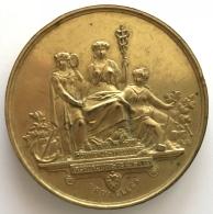 Médaille Exposition Commerciale Et Industrielle. Bruxelles. St. Gilles. 1892. 70mm - 153 Gr - Professionnels / De Société