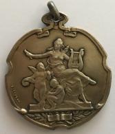 Médaille. Harmonie Communale D'Ixells 1928.  50mm - 43gr - Professionnels / De Société