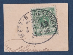 Cachet Ferroviaire - Zug Stempel  1898 Metz Moselle - Bingerbrück Palatinat - Used Stamps