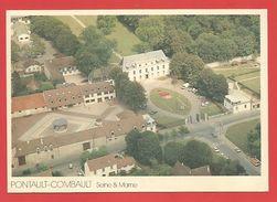 """C.P.M.Crand Format 170x118mm """" Pontault-Combault """" L'Hotel De Ville Vue Aérienne (rare  )  Voir 2 Photos. - Pontault Combault"""