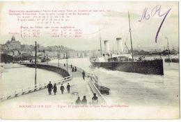 BOULOGNE Sur MER - Départ De Paquebot De La Ligne Boulogne-Folkestone - Passagiersschepen