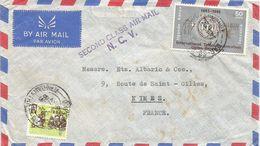 Kenya Uganda Tanzania 1965 Dar Es Salaam ITU Second Class Air Mail Handstamp Cover - Kenya, Uganda & Tanzania