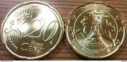 Eurocoins Lithuania 20 Cents 2017 UNC - Lithuania