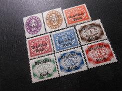 D.R.Mi 37*/39**/40**/43*/44*/46*/47*/49*/50*  Dienstmarken - 1920 - Mi 3,20 € - Dienstpost
