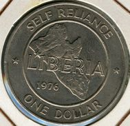 Liberia 1 Dollar 1976 KM 32 - Liberia