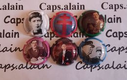 6 BELLES CAPSULES CHAMPAGNE MARTIN ALAIN GENERAL DE GAULLE NEWS - Collections
