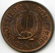 Sierra Leone 1 Cent 1964 KM 17 - Sierra Leone
