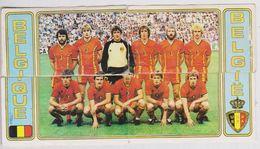 4 Stickers Sticker Panini Football 83 Voetbal Belgie Belgique 1983 Rode Duivels Diables Rouges Ploegfoto Equipe - Sports