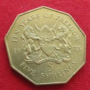Kenya 5 Shillings 1973  Kenia Quenia - Kenya