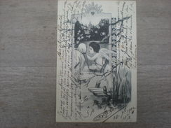 Un Ange Et Une Cigogne , 1902, Timbre (V2) - 1900-1949