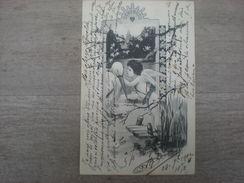 Un Ange Et Une Cigogne , 1902, Timbre (V2) - Illustratoren & Fotografen