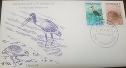 L) 1982 REPUBLIC OF SENEGAL, BIRDS, OISEAUX, NATURE, FAUNA, LIMOSA, FRANCOLIN, FDC, XF - Senegal (1960-...)