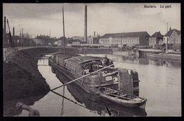 ROULERS - ROESELARE -  Le Port - Prachtkaart Met Aak En Animatie ( Aak Malvina Uit Evergem ) - Roeselare