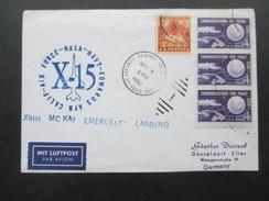 USA 1962 Raketenpost / Rocket Plane. X-15. Nasa. John Mc Kay Emergency Landing. Edwards Air Force Base - Briefe U. Dokumente