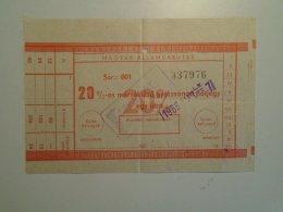 H4.16 MÁV - Railway  Ticket De Train - 20% Gyorsvonati Pótjegy 1986 - Unclassified