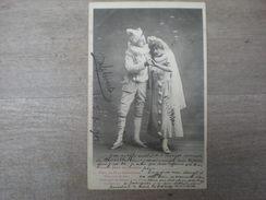 Bergeret, Pierrot Père De Famille , 1902, Timbre (V2) - Bergeret