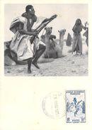 Afrique MAURITANIE La Danse Des Fusils - CARTE MAXIMUM Pub Ionyl  Série A.O.F  Timbre Stamp - Mauritania
