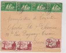 LETTRE ST PIERRE ET MIQUELON. 14.7.1951. ST PIERRE POUR ROUEN - St.Pierre Et Miquelon