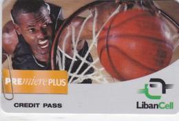 Lebanon, LB-LBC-REF-0002A, Premiere Plus - Basketball, 2 Scans.   Exp. : 02/09/2001 - Liban