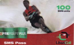 Lebanon, LB-LBC-REF-0010?, Premiere Plus SMS Pass - Water Ski, 2 Scans.   Exp. : 19/04/2002 - Lebanon
