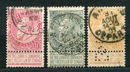 Belgien Nr.67/9        O  Used       (668) - 1893-1900 Schmaler Bart